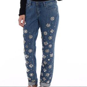 NWT Michael Kors jewel embellished Dillon Jeans